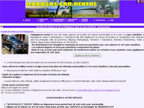 Madagascar Rental - Location de voitures 4x4 à Tana