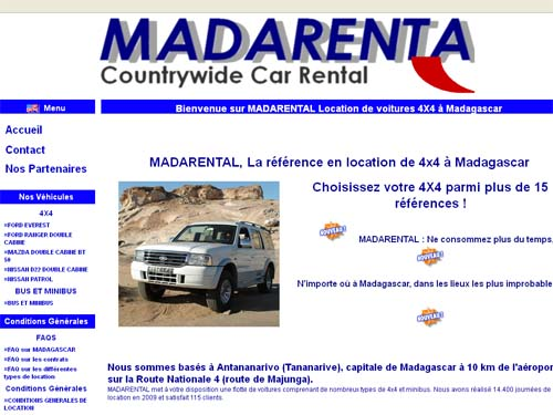 Madarental - Agence de location de voiture à Tananarive